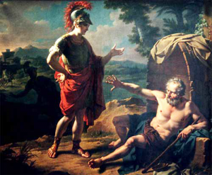 Diogenes and Alexander The Great