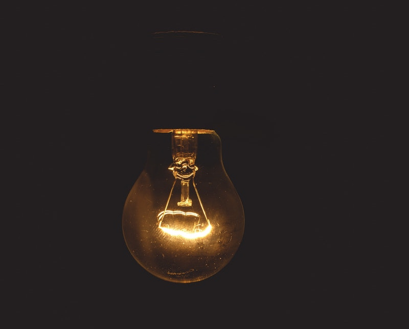 Image of a lightbulb representing shadow work