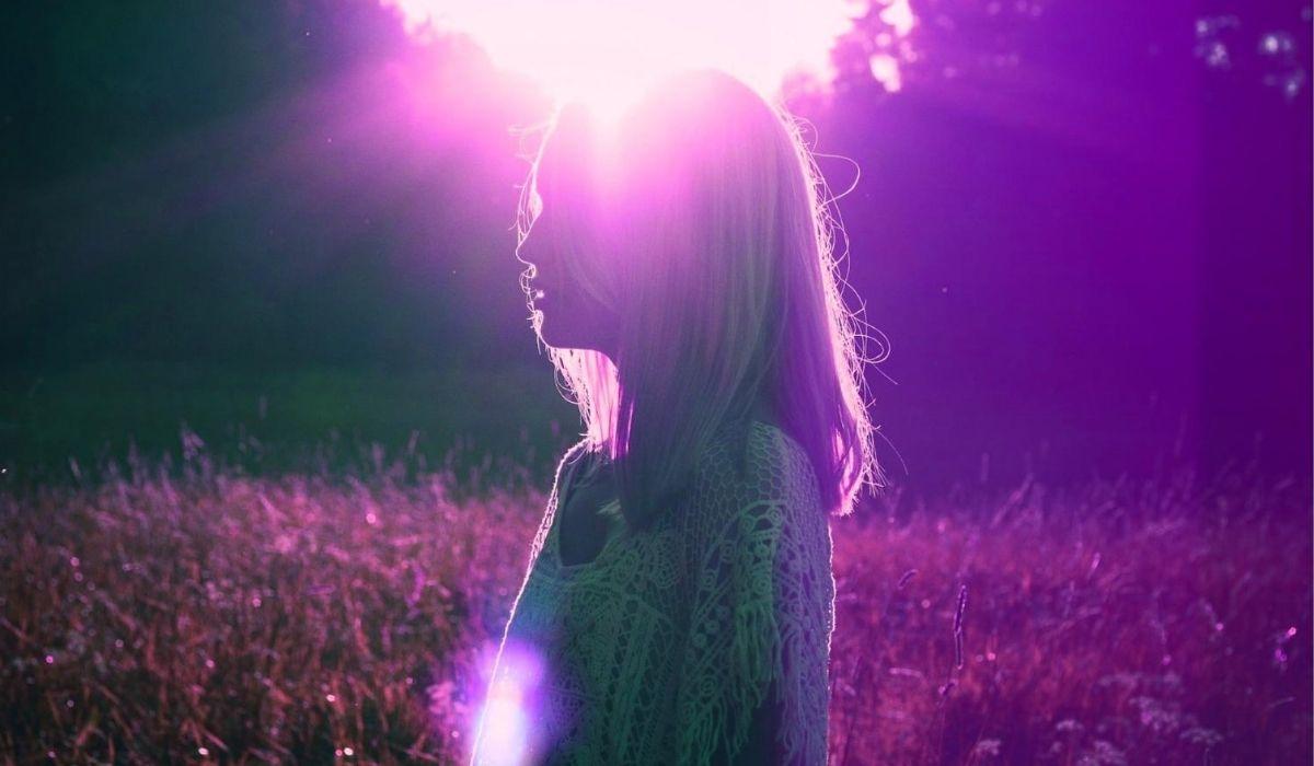 Spiritual awakening test image of a woman