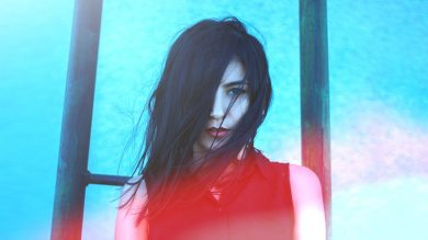 Image of a gothic looking woman looking like an energy vampire