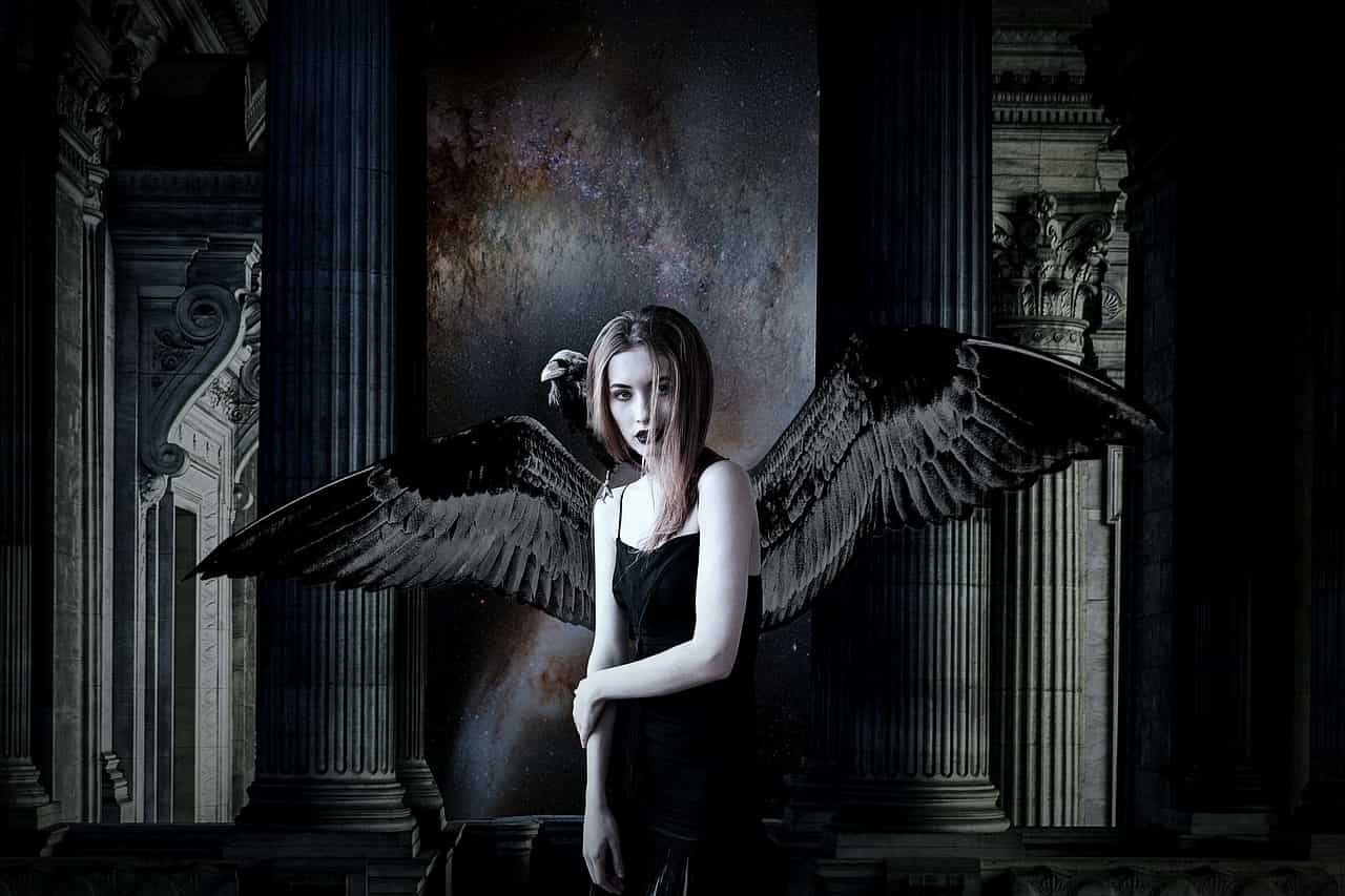 image of a fallen angel symbolizing the shadow self