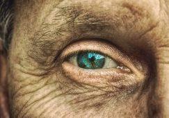 Image of old soul bright blue eye