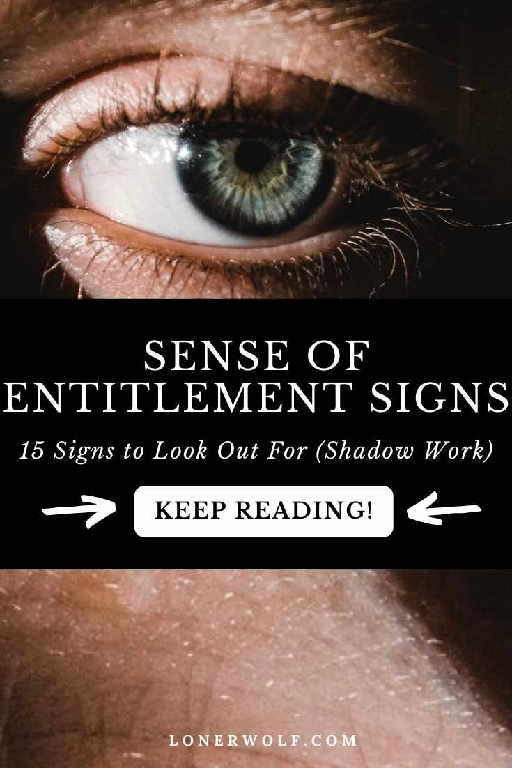 15 Signs You Have a Sense of Entitlement Shadow