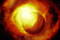 Image of a soul macrocosm galaxy and planet