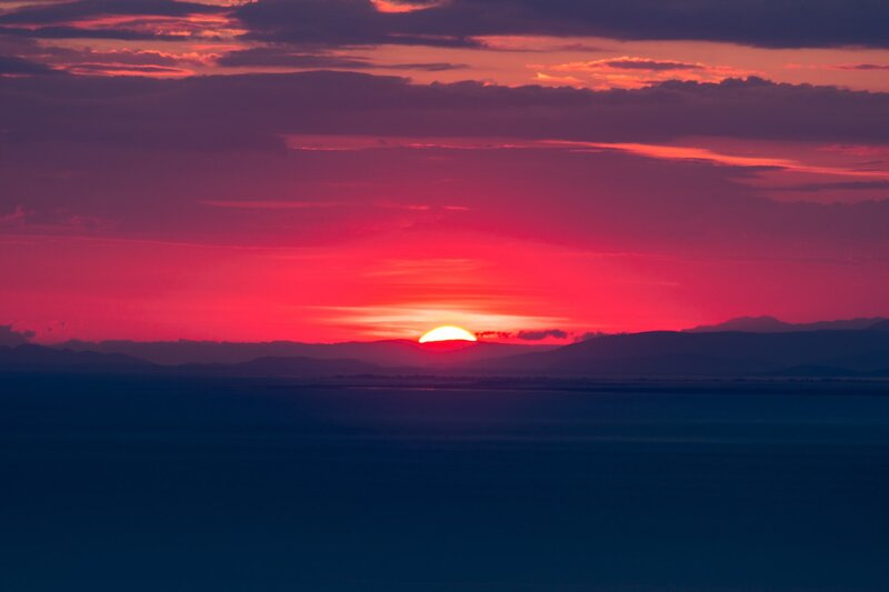 Image of a pink sunset symbolic of self-love