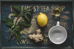 Image of natural remedies on a rustic table