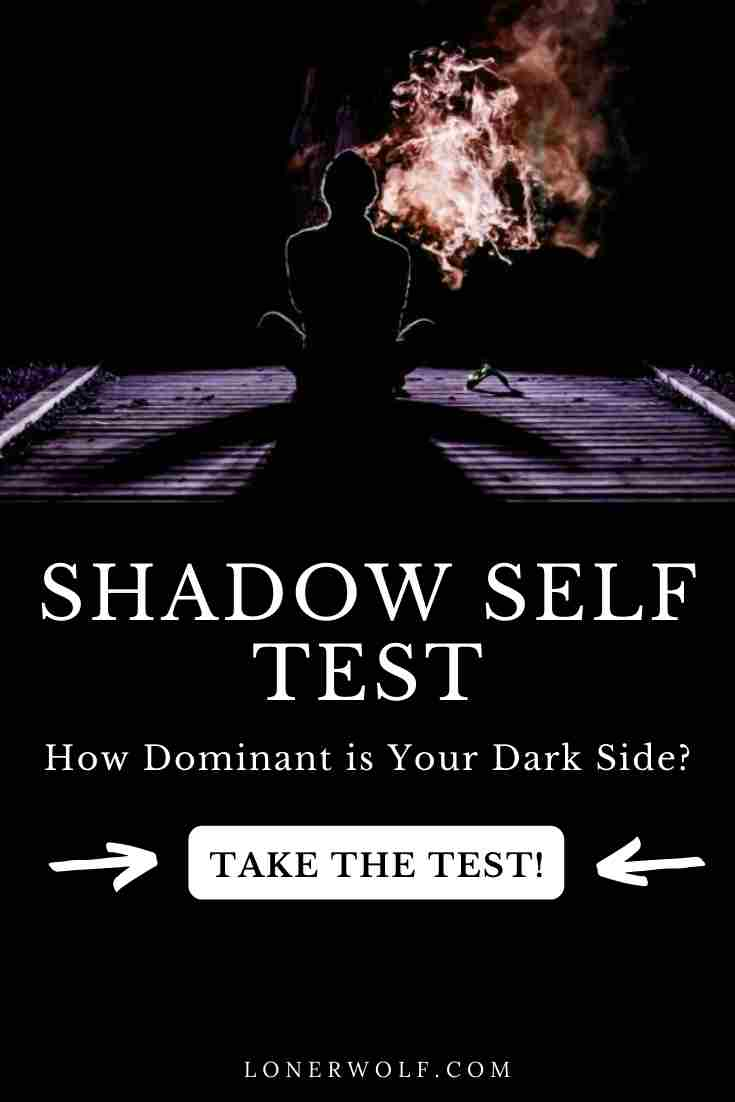 """Our Shadow Selves are those dark and mysterious places within us that we have refused to shine the """"light"""" on, for one reason or another. How dominant is your Shadow Self and what effect does this have on your life? Find out by taking our free Shadow Self Test.  #shadowself #shadowselftest #carljung #archetypes #shadowselfquiz #darkside #personalitytest"""