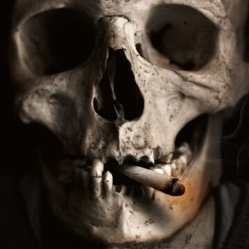 Image of a skull and fear of death