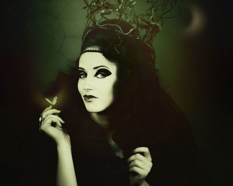 Image of a gothic woman embracing her ego and darkness