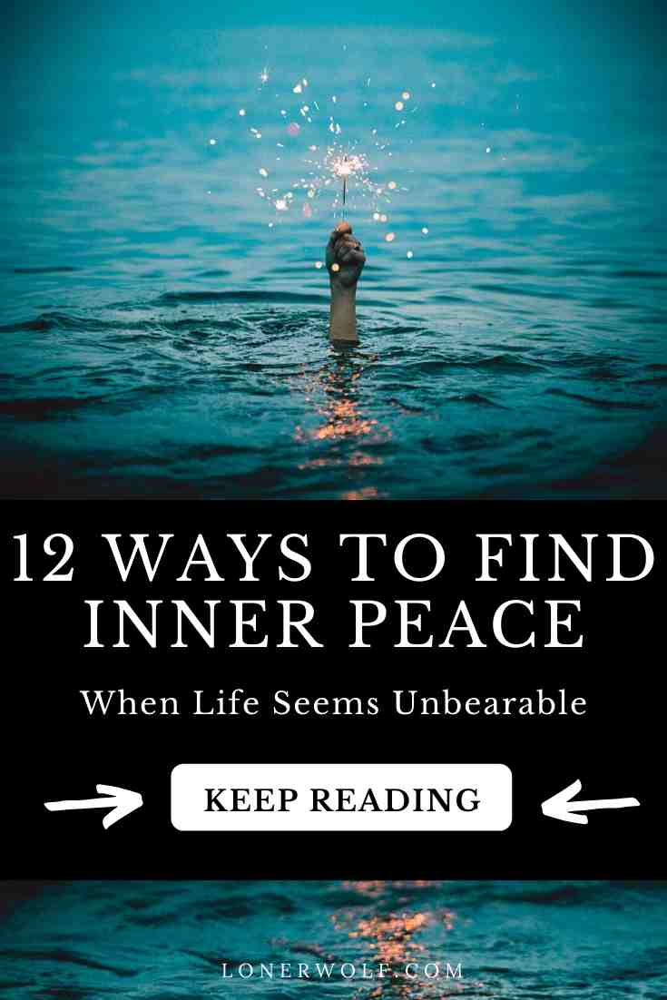 Inner peace is what we feel when our body, mind, heart, and soul is at rest. Are you suffering a lot in life? Here are twelve things to start doing ...  #innerpeace #zen #stressrelief