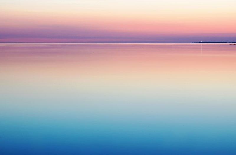 Image of a zen-like scene of inner peace at the ocean
