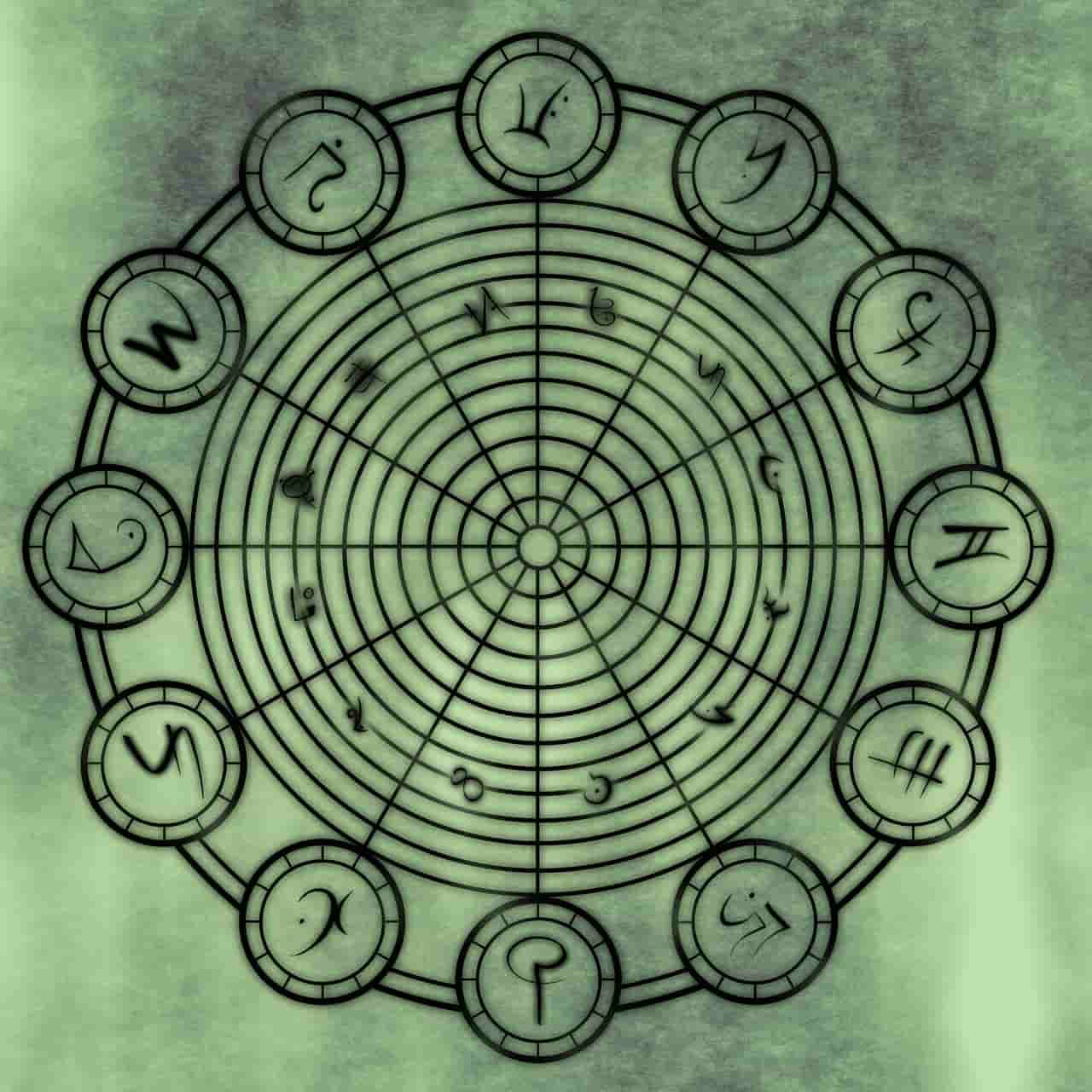 Image of a symbol that represents coagulation stage in spiritual alchemy