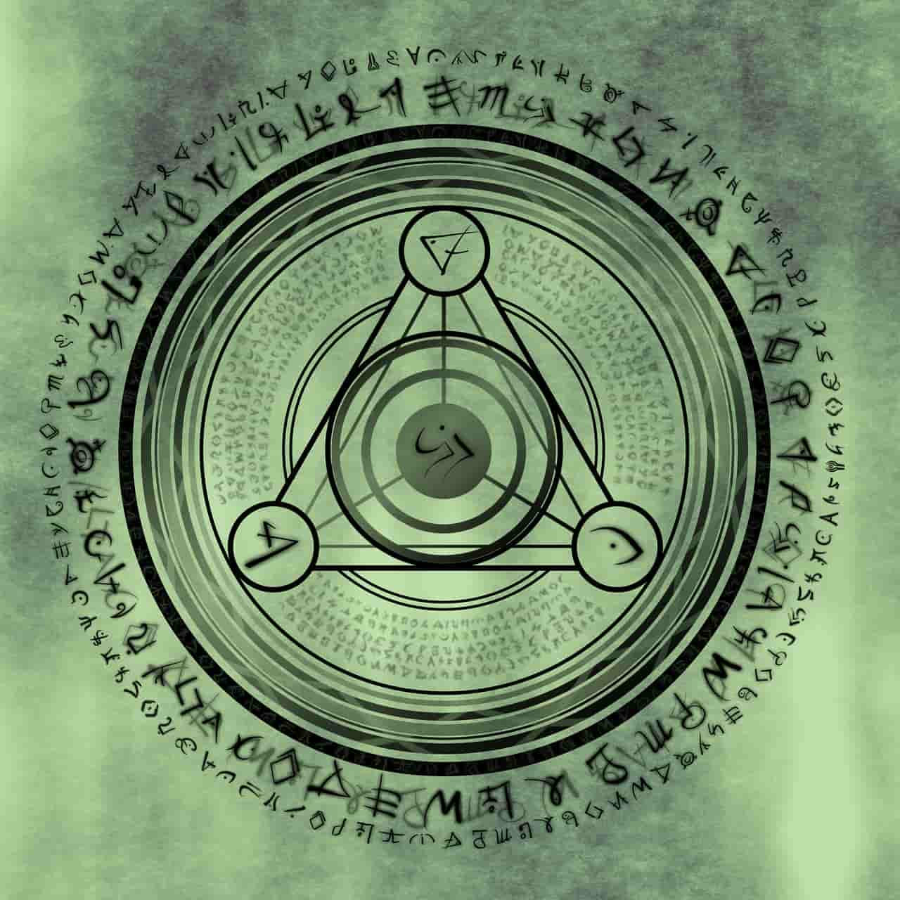 Image of a symbol that represents conjunction stage in spiritual alchemy