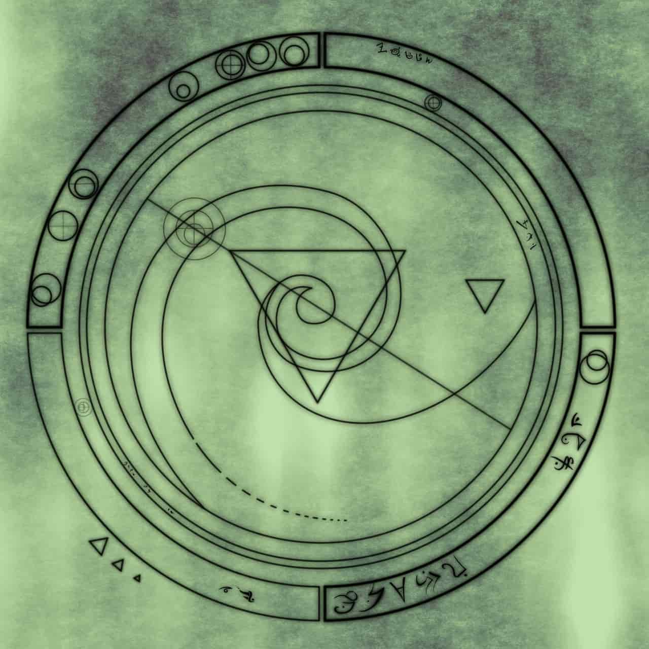 Image of a symbol that represents dissolution stage in spiritual alchemy