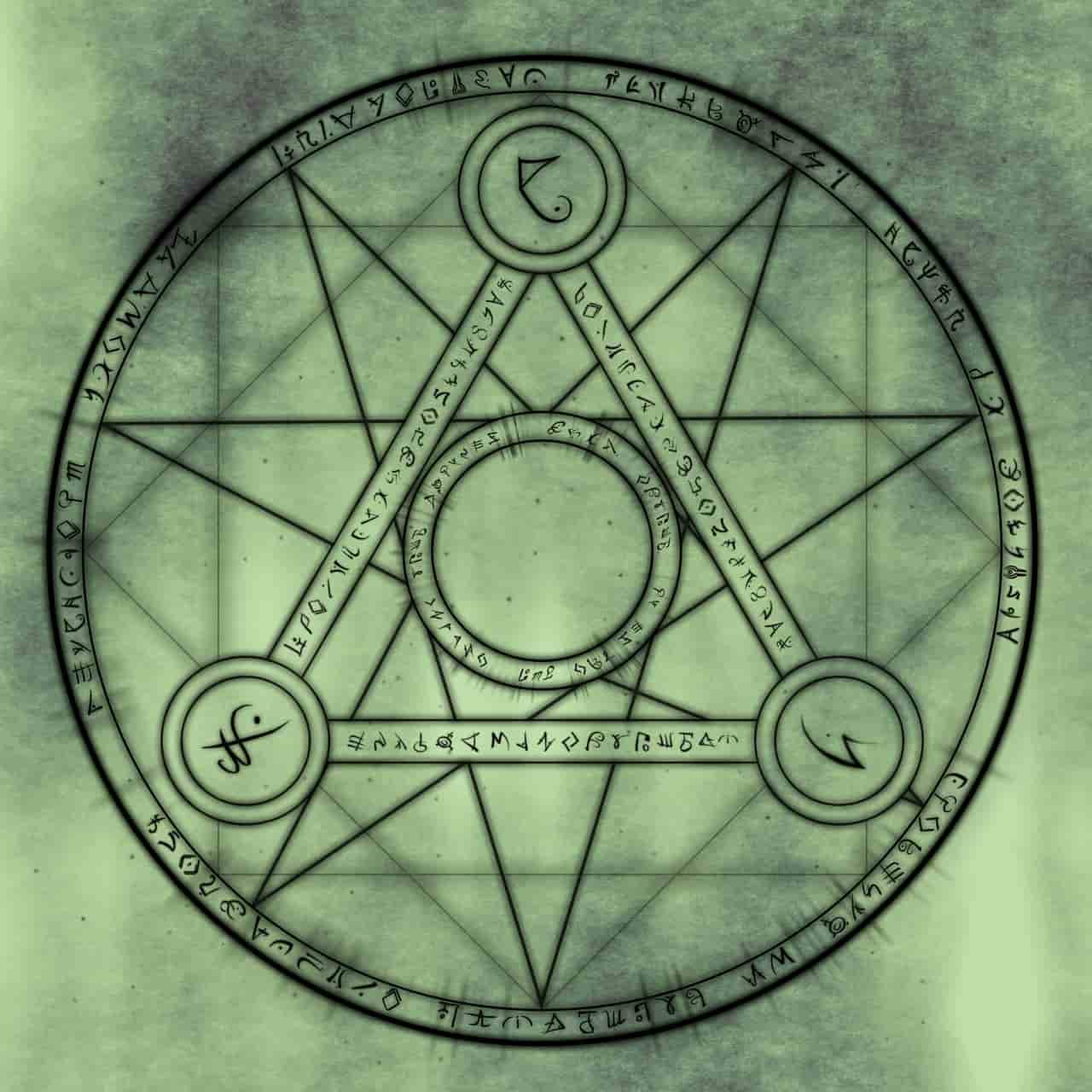 Image of a symbol that represents distillation stage in spiritual alchemy