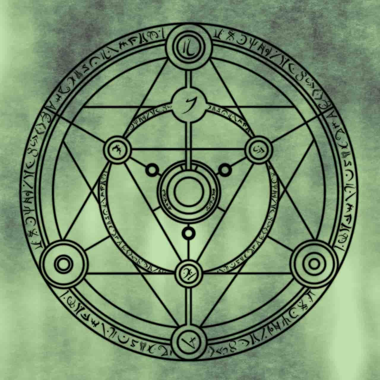 Image of a symbol that represents fermentation stage in spiritual alchemy
