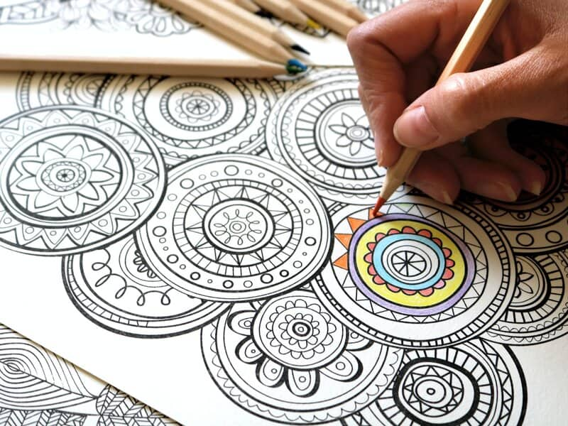 Free coloring pages for adults image