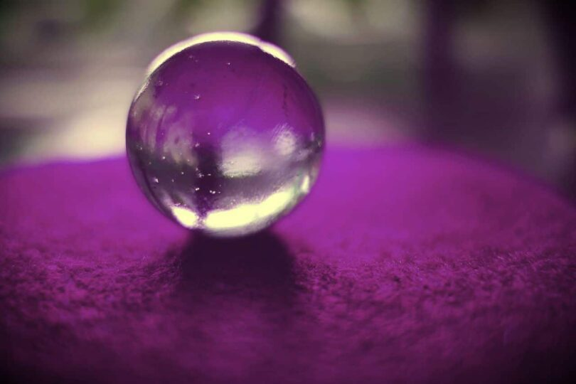 Image of a scrying crystal ball