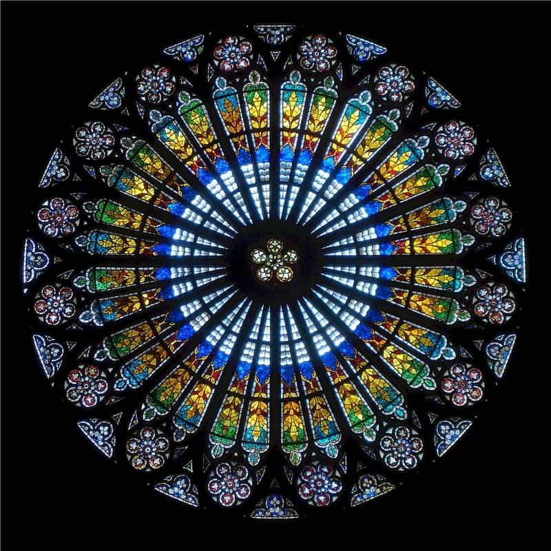 Image of a stained glass window