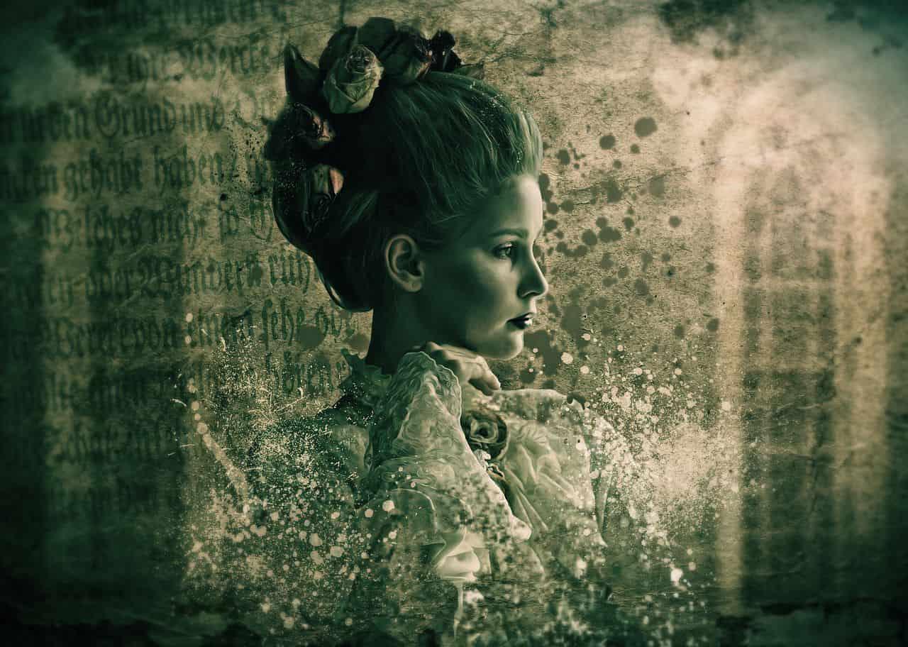 Image of a sad vintage woman experiencing existential depression