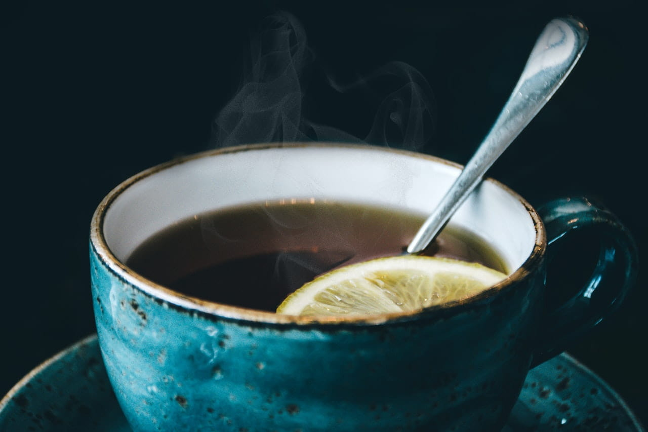 Image of a cup of soothing tea with lemon