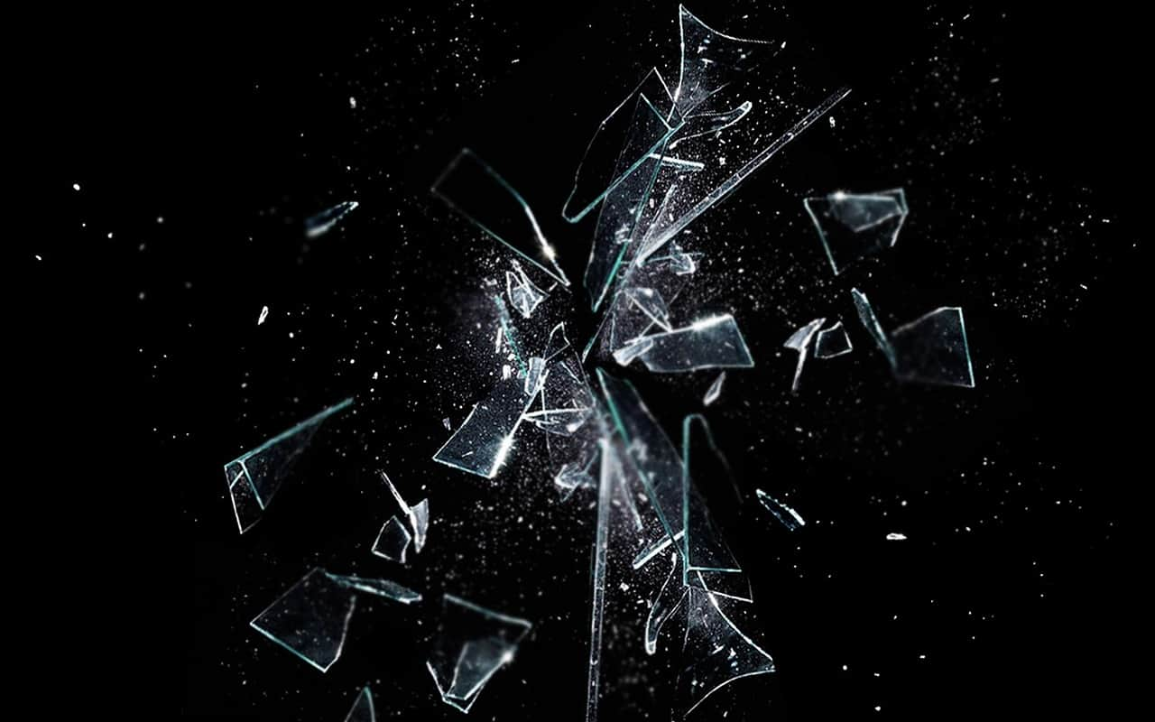 Image of broken glass representing soul loss and soul retrieval