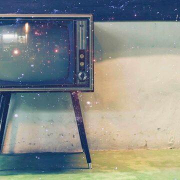 Image of a vintage TV