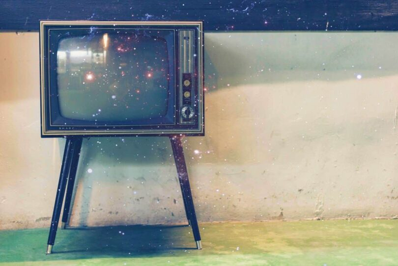 Image of a vintage TV