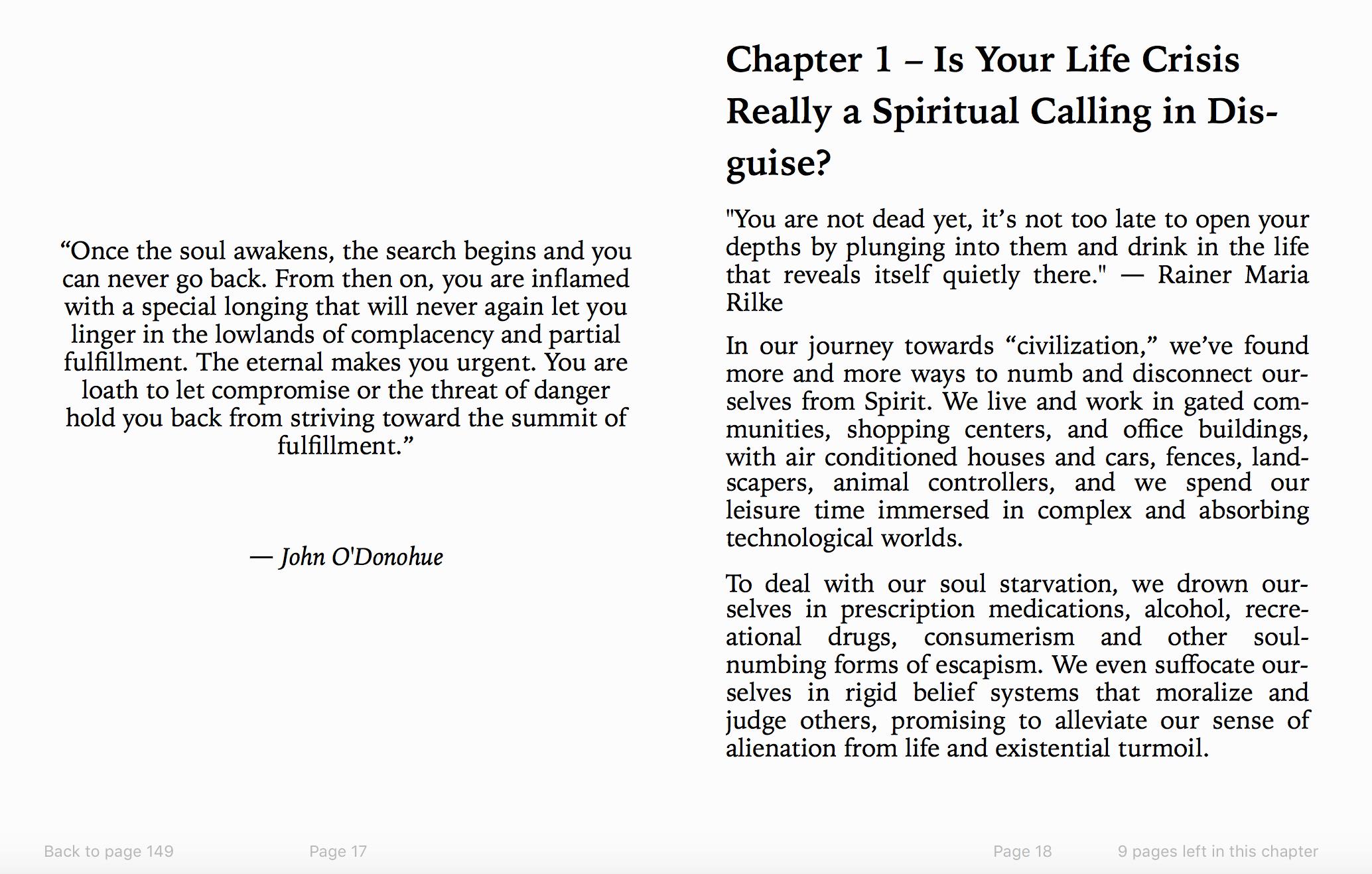 Spiritual awakening process ebook preview