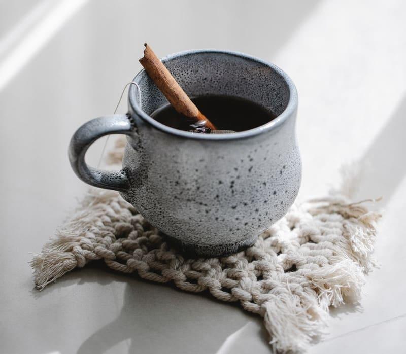 Image of a mug of hot chocolate used for mindfulness exercises