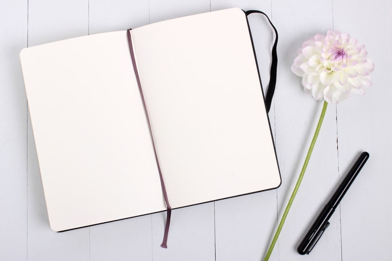 Image of a blank journal used for automatic writing
