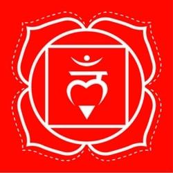 Muladhara root chakra symbol image