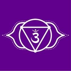 Ajna third eye chakra healing symbol image