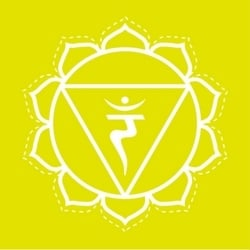 Manipura solar plexus chakra healing symbol