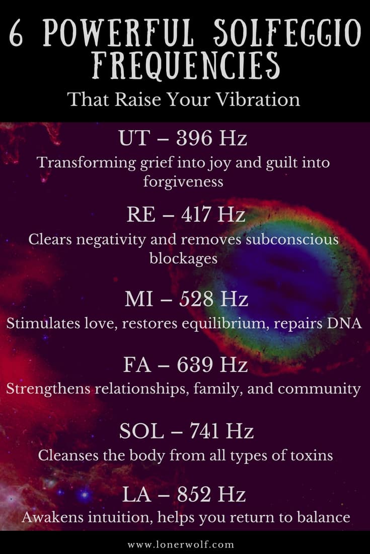 The solfeggio frequencies can enhance your intuition, deprogram negative beliefs, and increase feelings of love. Amazing!