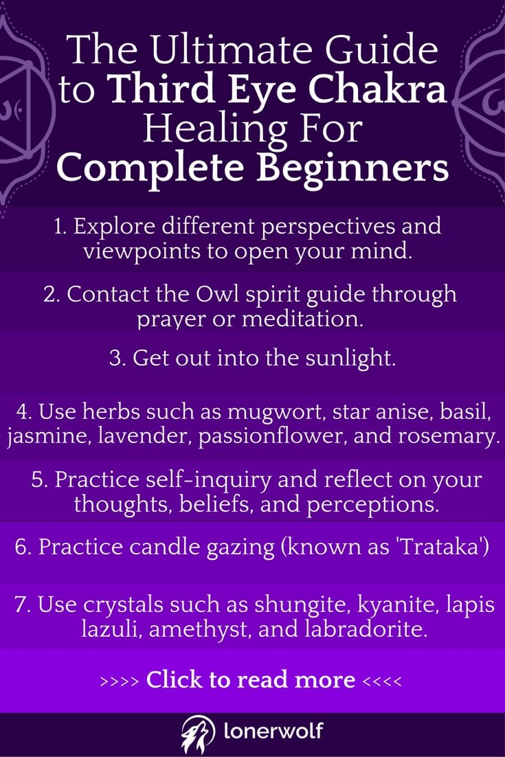 Try these Ajna Third Eye Chakra healing practices if you struggle with depression, cynicism, and closed-mindedness. #thirdeyechakra #chakrahealing #ajna #chakras