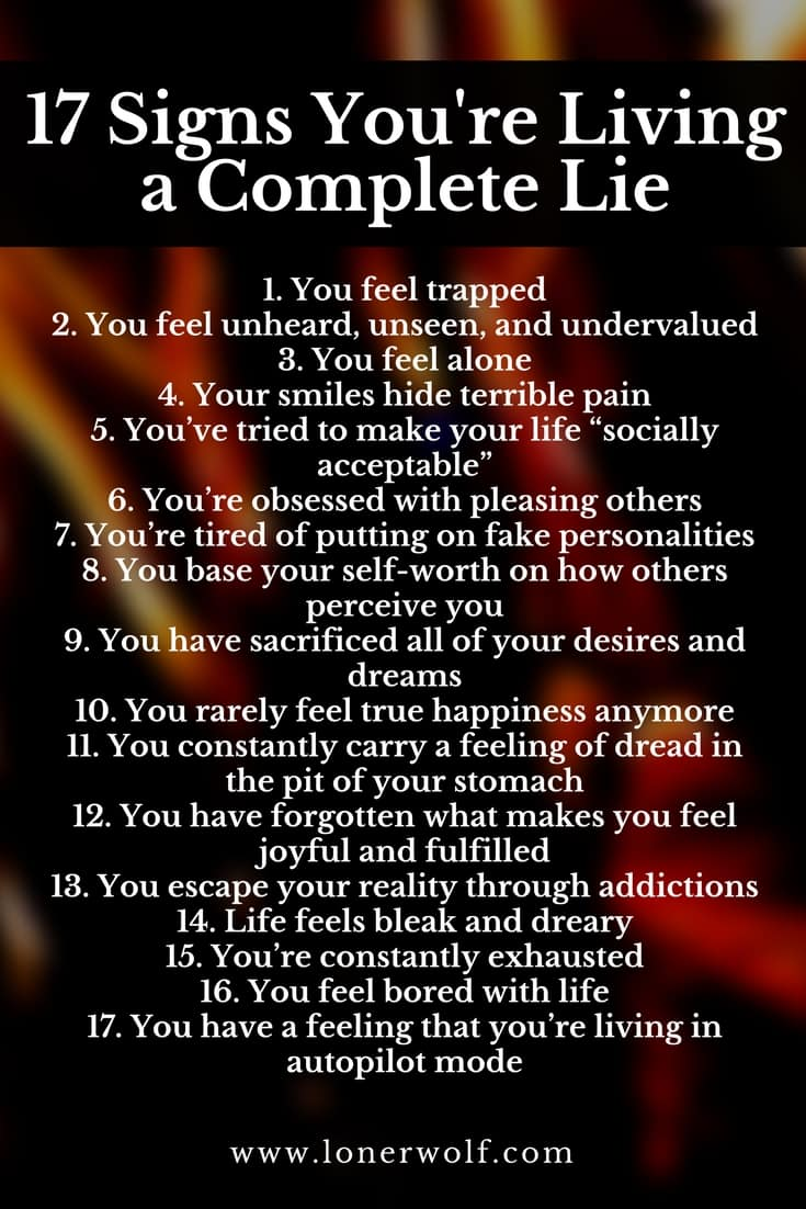 When I realize that I was living a lie and not following my destiny and life purpose, the world SHATTERED for me. Being authentic is so important, as is telling the truth about yourself. These signs helped me a lot.