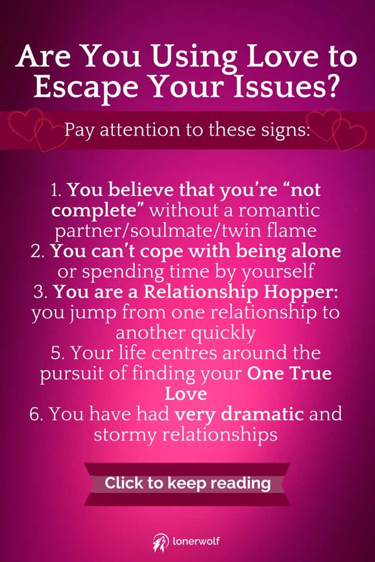 Why we use the search for love to escape ourselves / soulmates / twin flames / addiction / love addict