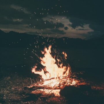 Image of a blazing bonfire symbolic of realizing that it's time to move on