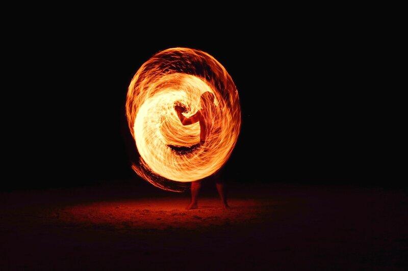 Image of a fire dancer