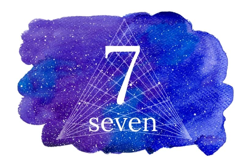 Seven - meaning of numbers image