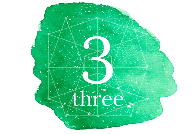 Three - meaning of numbers image