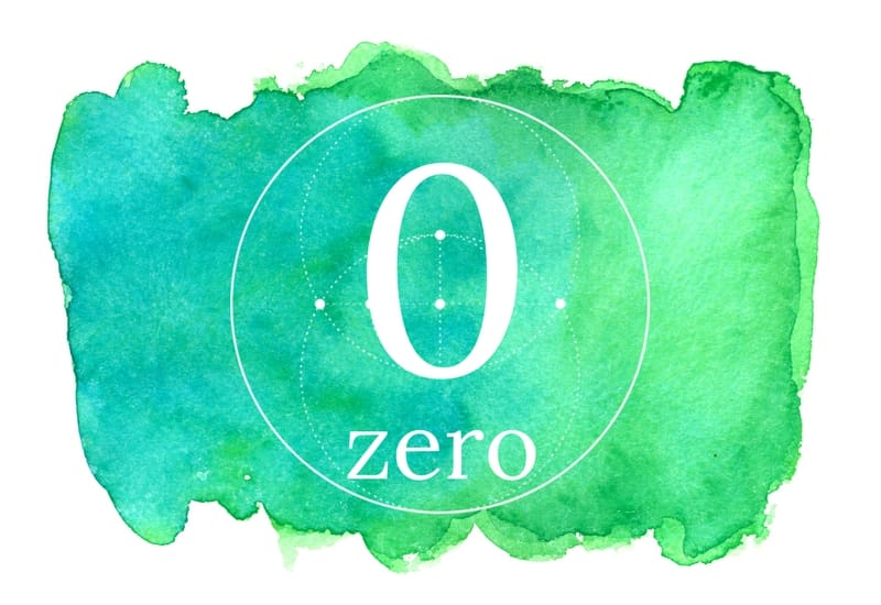 Zero - meaning of numbers image
