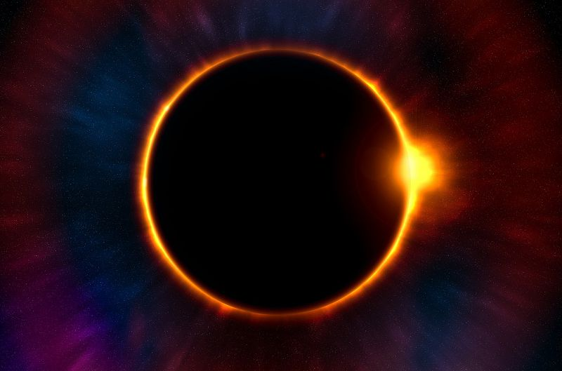 Image of an eclipse symbolizing spiritual healing