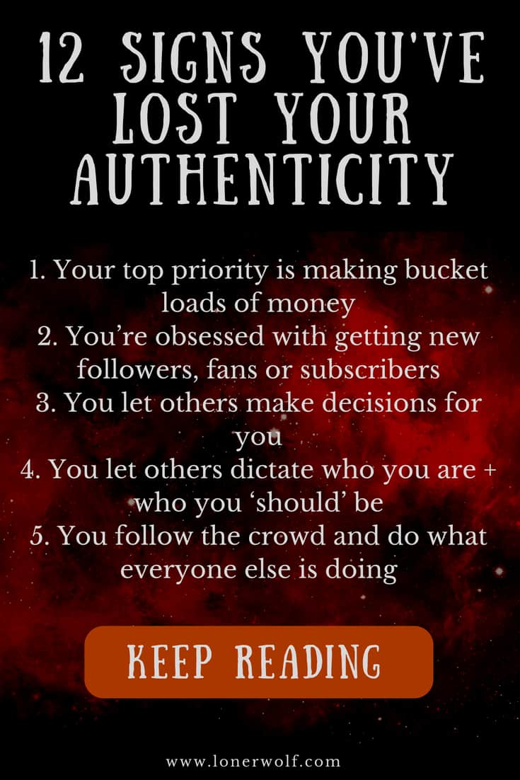 """What does being authentic mean? And most importantly, how can we tell when we're being inauthentic– also known as """"selling out""""?"""
