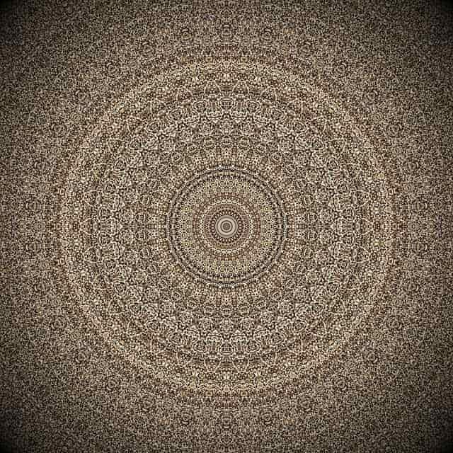 Image of an intricate brown mandala