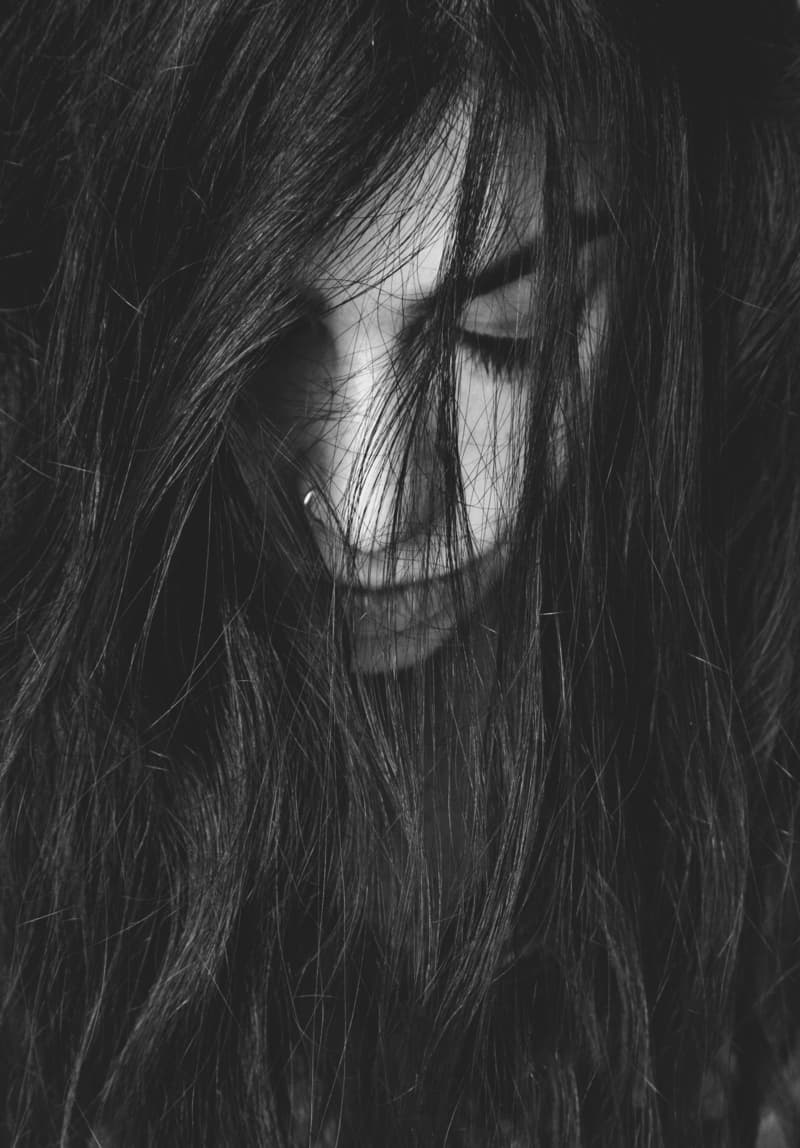 Image of a sad wild woman