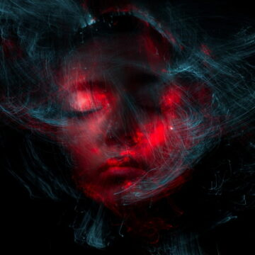Image of a woman with confusing energy filling her head symbolic of the need for spiritual discernment