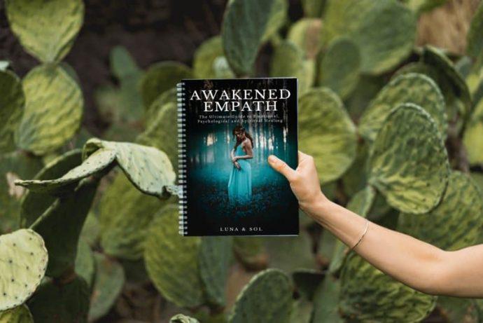 Awakened empath as a spiral bound book