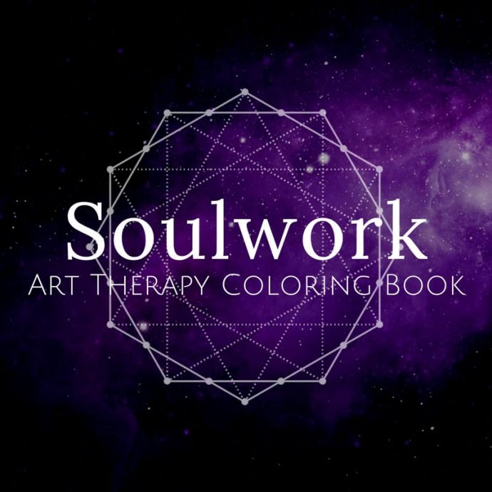 Soulwork Art Therapy Coloring Book image